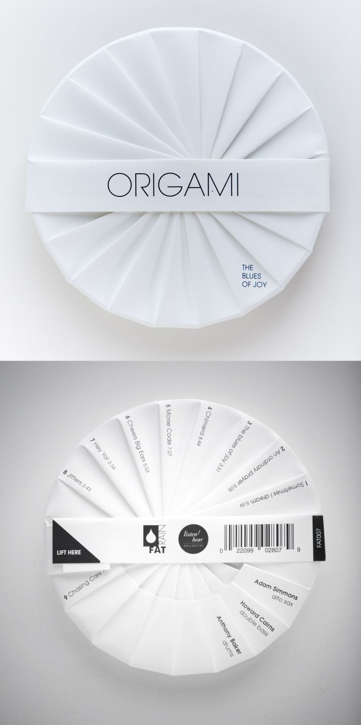 Origami, The Blues of Joy (CD packaging) — Designer Unknown