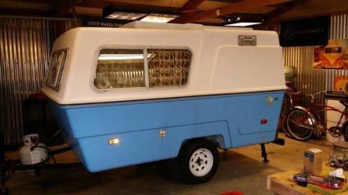 RARE 1974 Hunter Compact II molded fiberglass camper ...