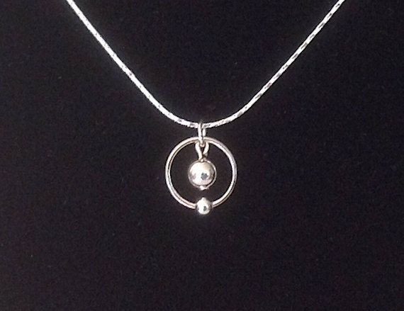 Hydrogen Atom Necklace by OnceUponASine on Etsy