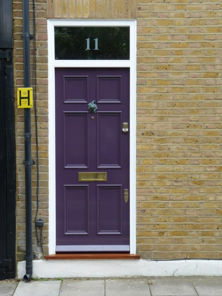 The london door company 39 auberginee 39 paint colour gloss for Front door manufacturers