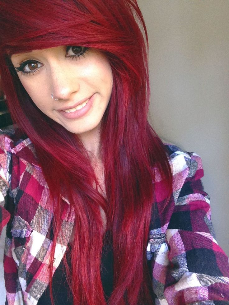 sexy scene girls with bright red hair