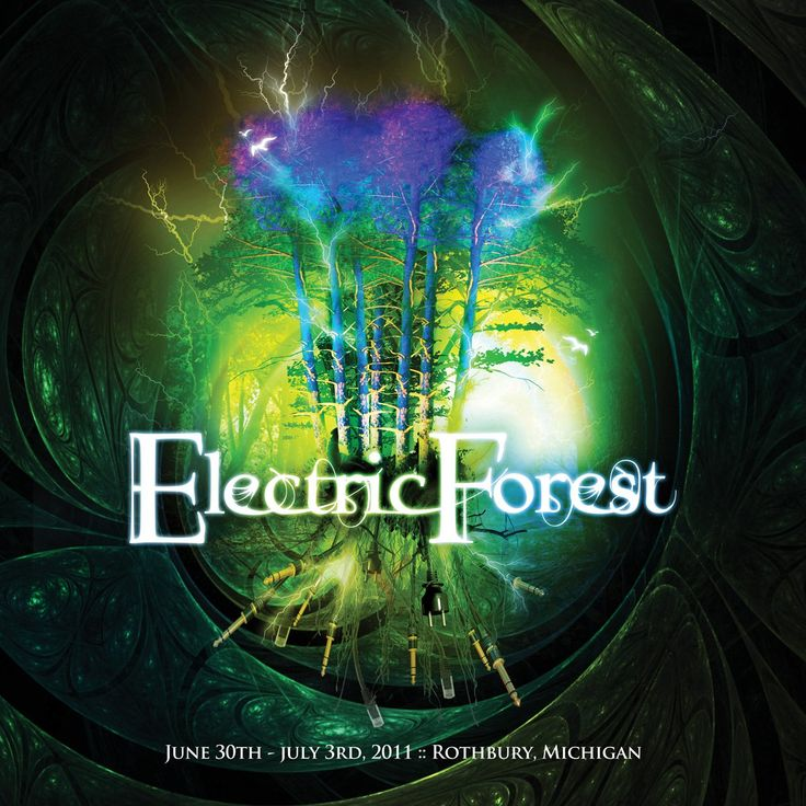 Electric Forest Music Festival Poster in Rothbury, Michigan.