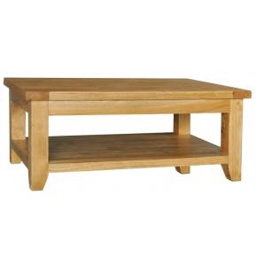 Vancouver Oak VA014 Rectangular Coffee Table with Shelf  www.easyfurn.co.uk