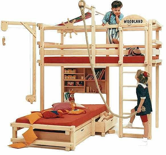 Bunk Bed Meets Backyard Play Structure