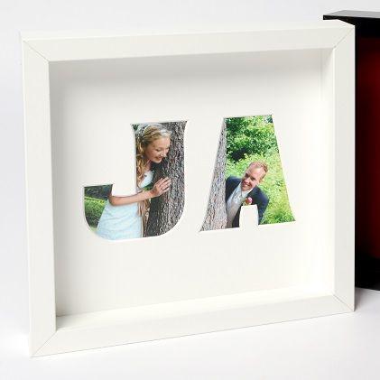 Ja Hochzeit Liebe Bild Passepartout Geschenk Ikea Format 23x23