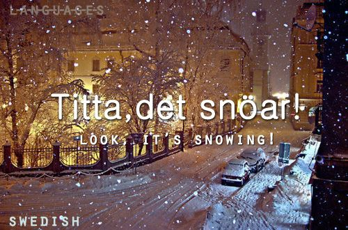 Titta, det snöar!