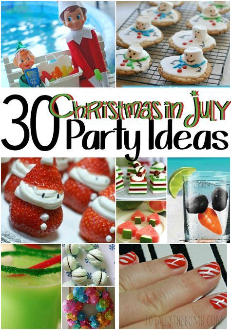 christmas in july party ideas