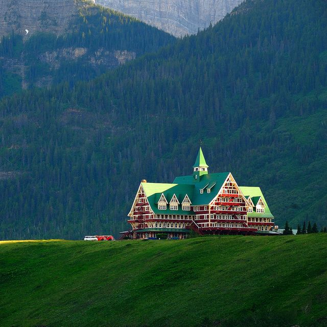 Prince of Wales Hotel in Alberta, Canada - Got to go here in July 2006.  It's really amazing!