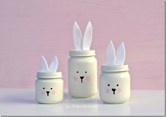 I had to squeeze in one more Easter mason jar craft idea …. especially after I spotted these super adorable bunny jars! In fact, thought it would be a disservice to not share these bu…