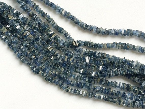 Kyanite Heishi Chips Kyanite Beads Natural Light by gemsforjewels