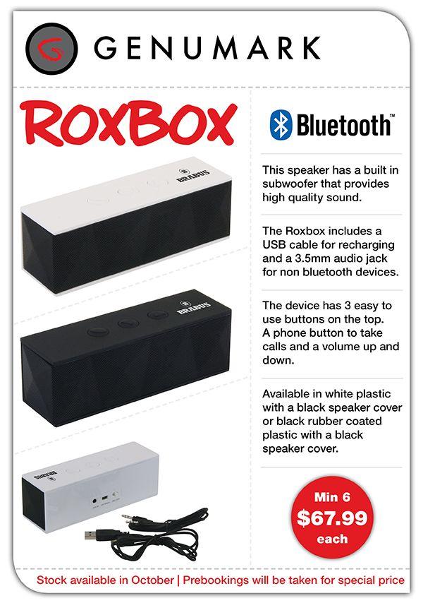 Roxbox Bluetooth Speaker Special
