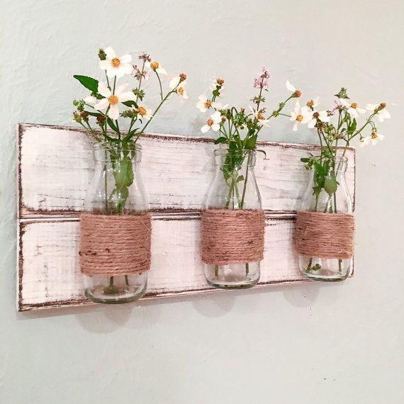 Lámpara de botella florero de pared florero de por HadleyAndRuth