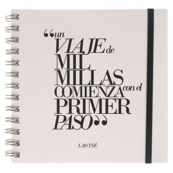 Cuaderno con frase original - Lao Tse