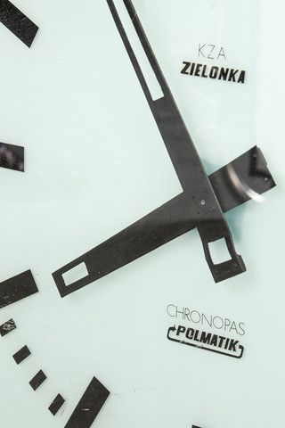 Communist era railway clock. Manufactured during the 1960's in Czechoslovakia. Battery operated.  If you like this check out our shop http://industrialthings.com/