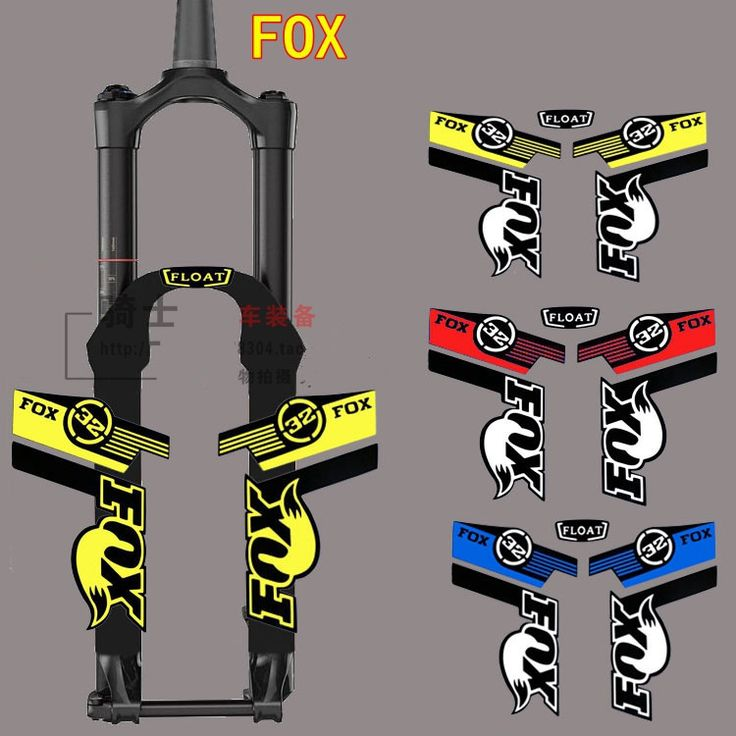 Hot penjualan stiker reflektif sepeda gunung bingkai untuk fox, tetap bingkai aksesoris sepeda stiker stiker rockshox garpu batu shox