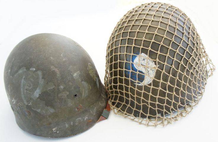 M1 Helmet 29Th Infantry Division NCO Stripe Front Seam