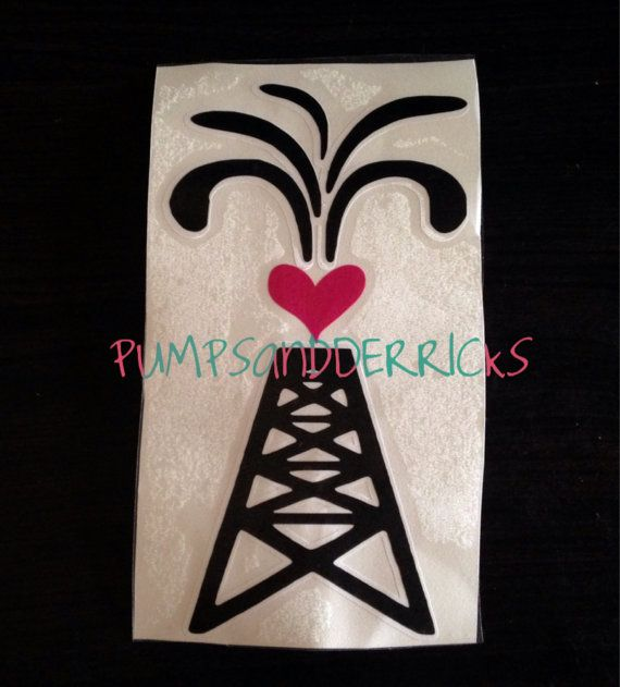 5x7 Love for The Oilfield Decal simple design by PUMPSandDERRICKS, $7.50