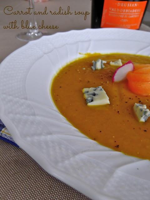 Crema di carote e ravanelli http://www.cucinadibarbara.com/2013/01/ricetta-crema-di-carote-e-ravanelli-con.html