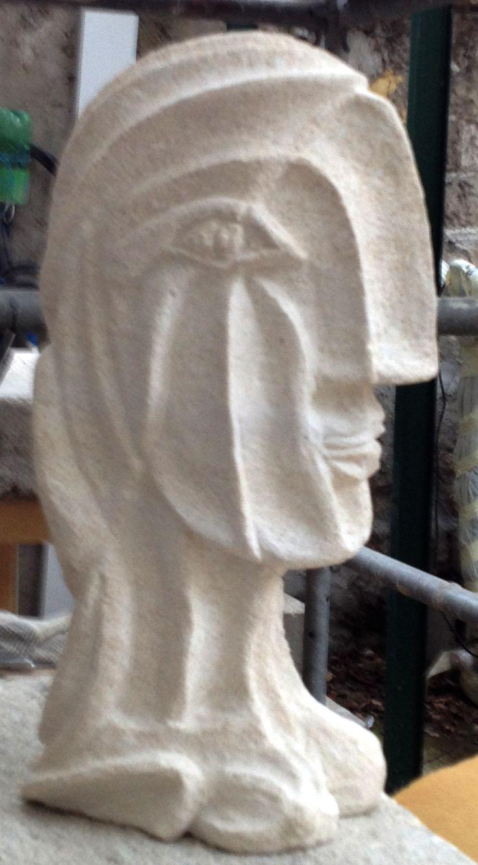 Sculpture en calcaire. Ferdinand Banza 2014