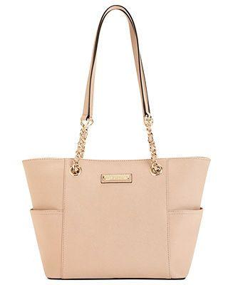 Calvin Klein Saffiano Leather Tote - Calvin Klein - Handbags & Accessories - Macy's