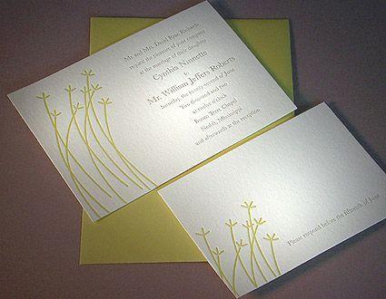 example of letterpress invite