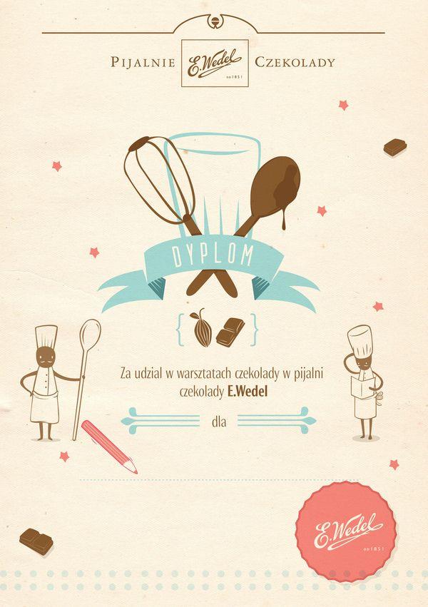 Kid's menu in Wedel's chocolate lounges by luiza kwiatkowska, via Behance