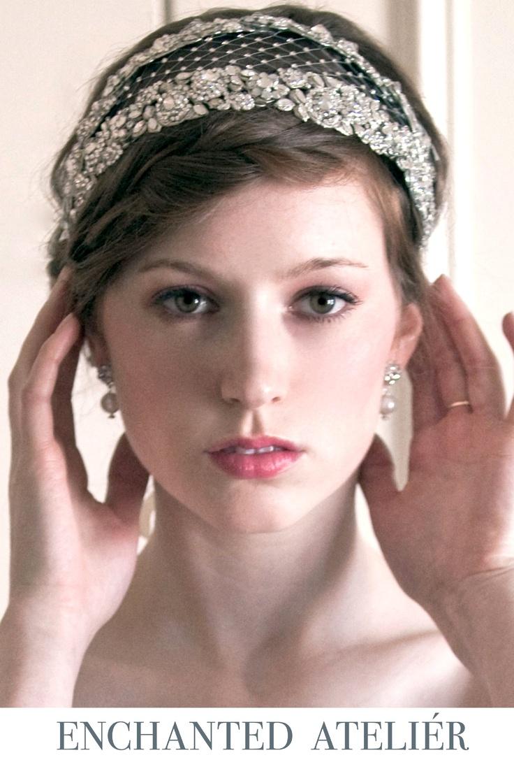 {Contessa Luxe Headband}    -Credits: Emme Wynn-Photography, Liz Wegrzyn-MUA, Aleksandra Ulanowicz-Hair, Rachel MacKay-Model, Headpiece by Enchanted Atelier-