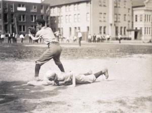 St. Louis sandlot baseball. The slide. (1910)