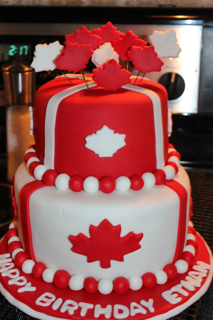A beautiful Canada Day cake.