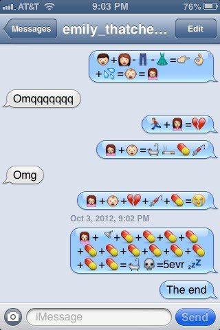 Funny texts using emoji