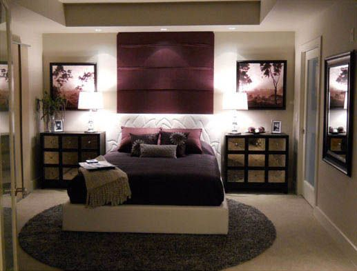 Asain inspired, Master bedroom in hues of eggplant.., Bedrooms Design