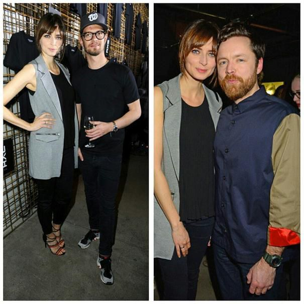 Eva Padberg wearing our Oui Top at the AXE blackshirt release party!