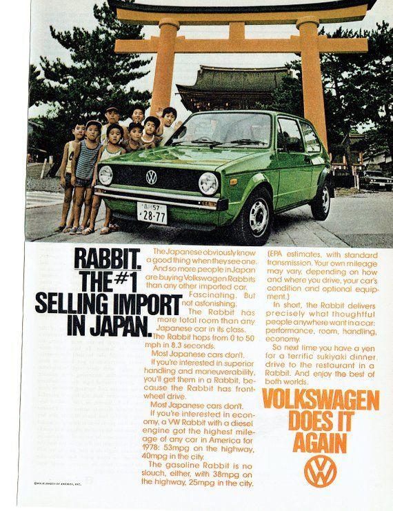 1978 Advertisement Volkswagen Rabbit Best Seller Import