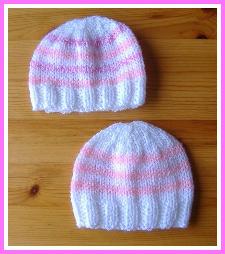 Knitting Caps For Babies : Marianna s lazy daisy days simple stripes baby hat