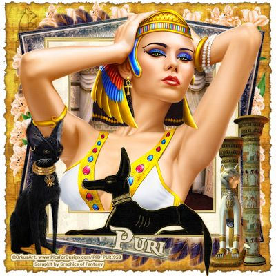"MI RINCÓN GÓTICO: CT for GoF Designs, ""Egyptian Princess"""