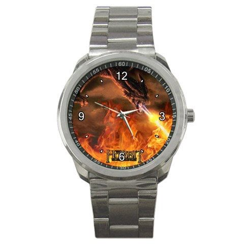 Lord Of The Rings The Hobbit logo mens sport watch by tukangpos