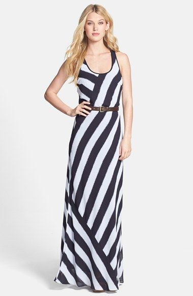 Michael Kors ++reduced++ Until & White Belted Racerback Long Casual Maxi  Dress Size 2 (XS)