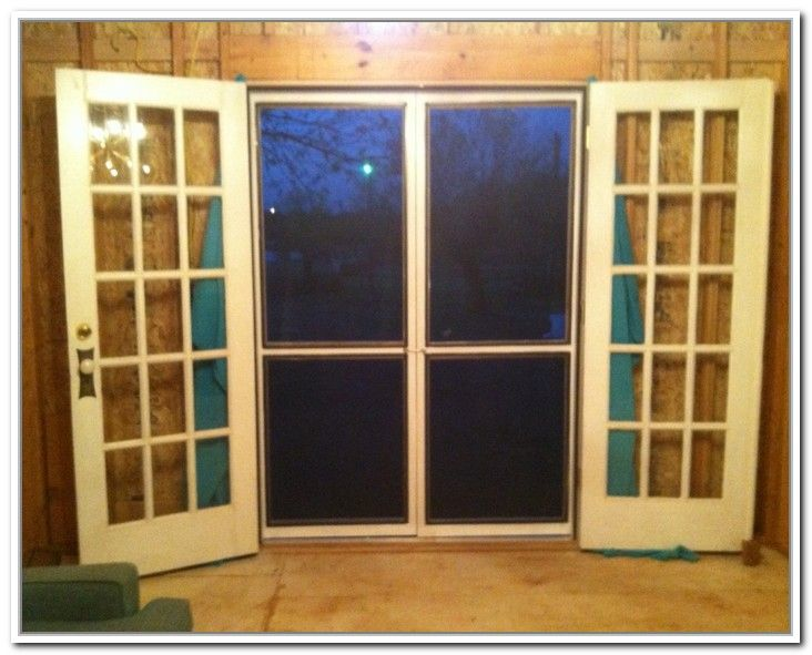 How to build a screen door for french doors home for Interior screen door