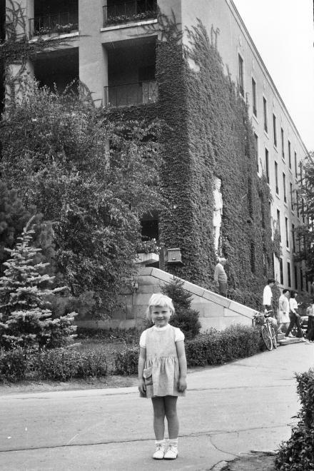 Egyetemváros, Nehézipari Műszaki Egyetem (ma Miskolci Egyetem), az E/3-as kollégium épülete az \ 1967