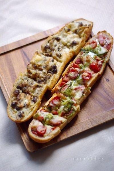 パリジャンで♪バゲットピザ2種♡ プレゼント、ありがとう^^ by Mayu ...