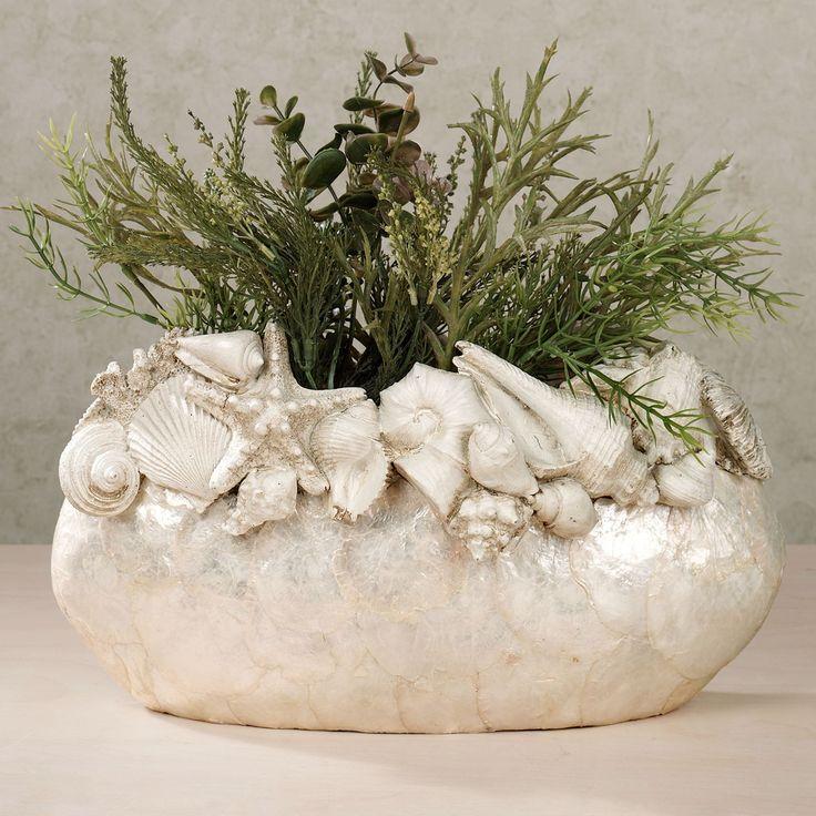 Seashell Island Vase Ivory. Click to expand