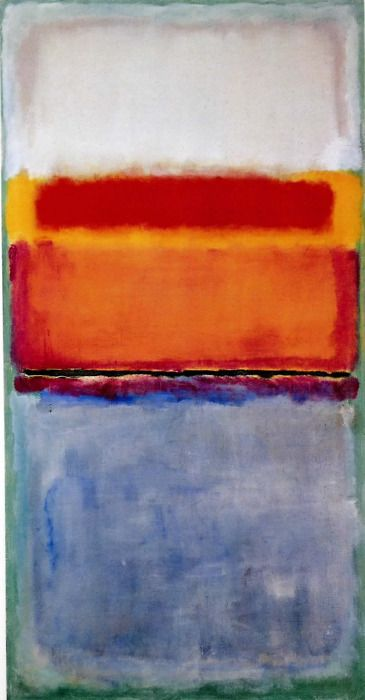 *abstract painting, art, colors, reds and blue* - mark rothko