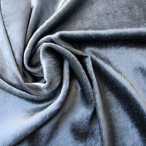 Light Silver Velvet Fabric Yardage Commercial Fabric by FabricMart