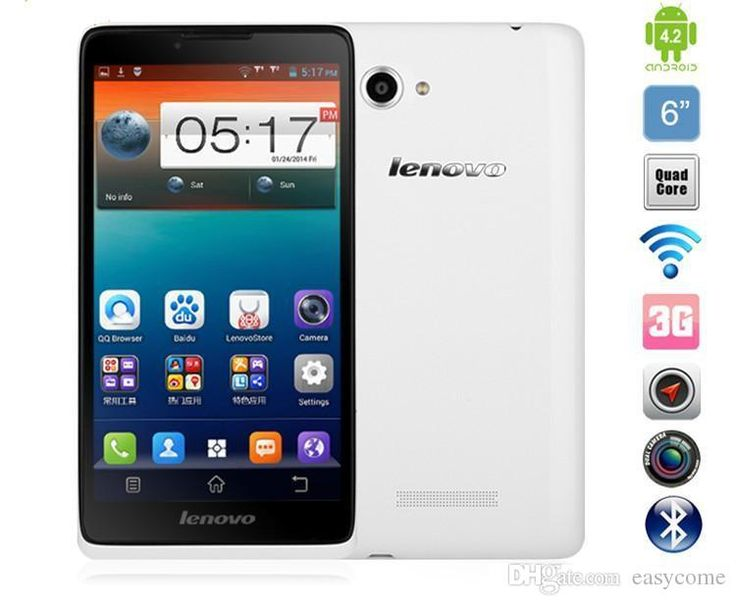 Newest Android Phones 2015 Lenovo A889 3g Smartphone Mtk6582 Quad Core 6inch 960x540 1gb+8gb 8.0mp Android 4.2 Wcdma Wifi Gps Bluetooth Unlocked Cell Phone Smart Cell Phone From Easycome, $116.85| Dhgate.Com