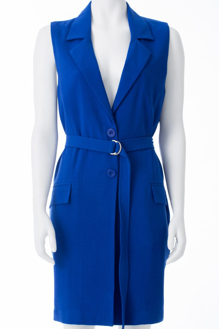 Veston long bleu sans manche, ADDITION ELLE, 98$ * Long blue sleeveless jacket, ADDITION ELLE, $98