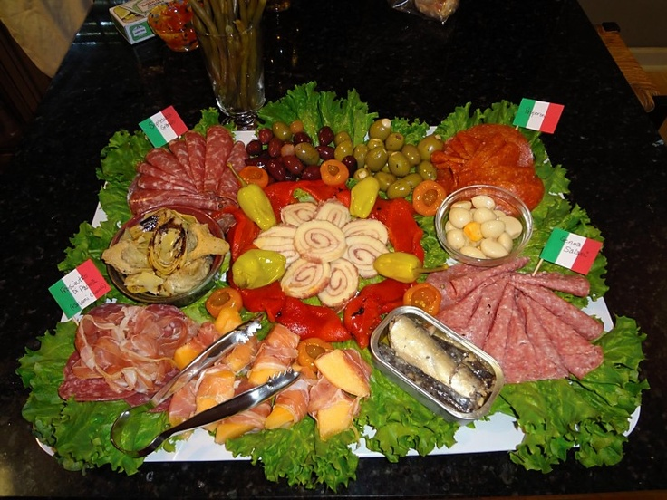 Antipasta tray for italian dinner party party time ideas for Italian dinner
