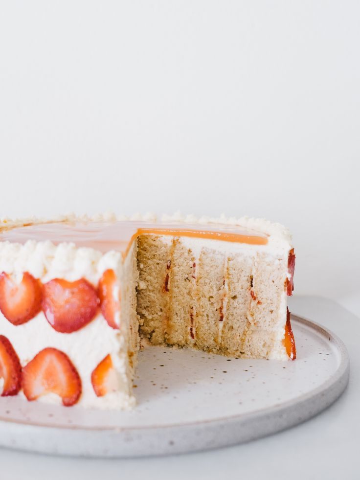 Strawberry Guava Chiffon Cake