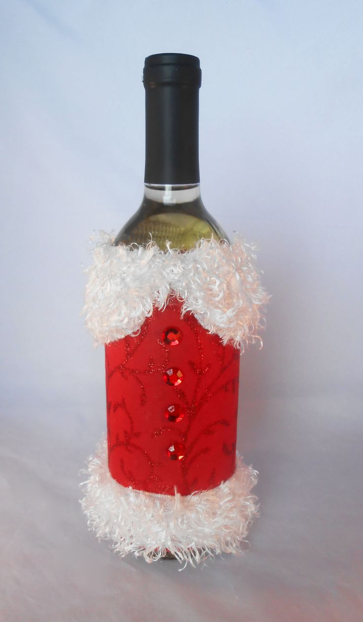 Santa Wine Bottles | Just Shy of Perfection