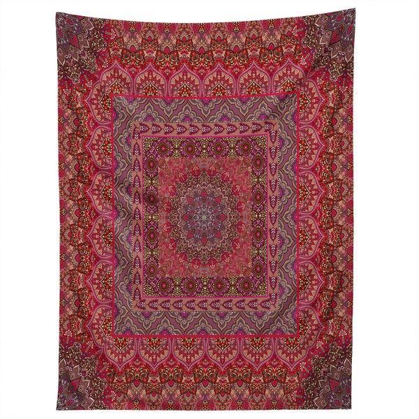 Aimee St Hill farah squared red Tapestry ($49) ❤ liked on Polyvore featuring home, home decor, wall art, red wall art, red home decor, tapestry wall art and red home accessories