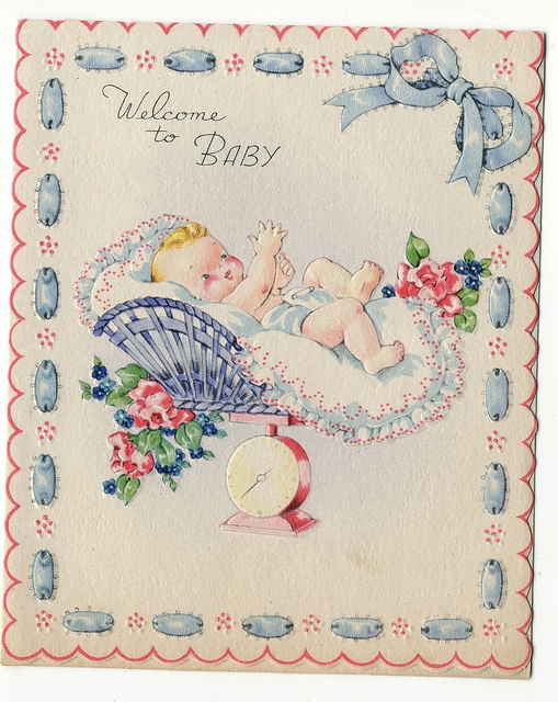 Vintage Greeting Card for Baby